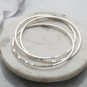Personalised Russian Bangle Set