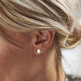 Flaming Heart Stud Earrings