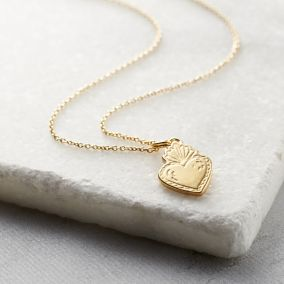 Personalised Sacred Heart Necklace