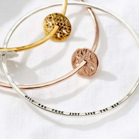Personalised Sand Dollar Bangle