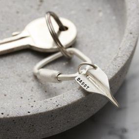 Personalised Silver Paper Plane Keyring