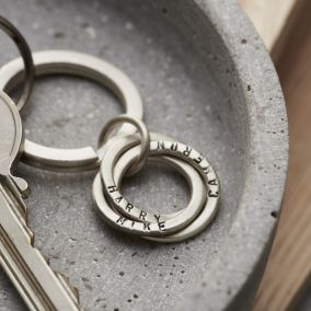 Personalised Silver Russian Ring Keyring