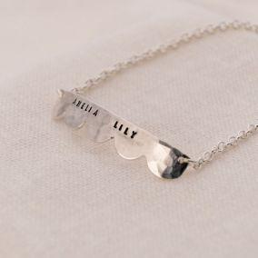Personalised Scalloped Necklace & Bracelet Set