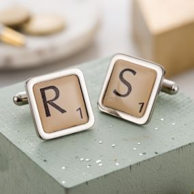 Personalised Letter Tile Cufflinks
