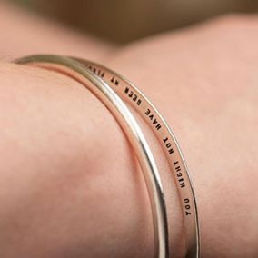 Personalised Secret Message Double Bangle