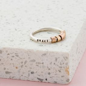 Personalised Secret Bead Ring