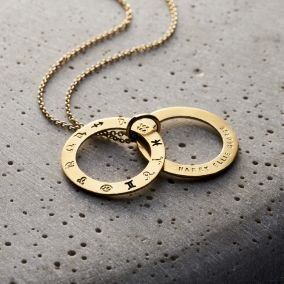 Personalised Secret Zodiac Circle Necklace