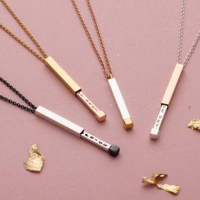 Personalised Secret Message Slider Necklace