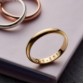 Personalised Secret Script Ring