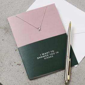 Silver Kisses Card & Necklace Set