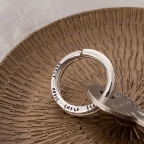 Personalised Silver Keyring