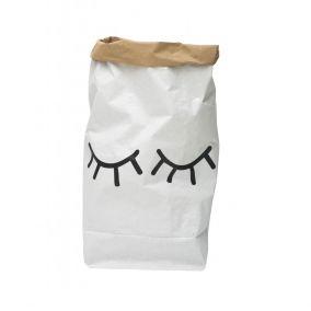 Sleepy Eyes Paper Bag Storage Basket