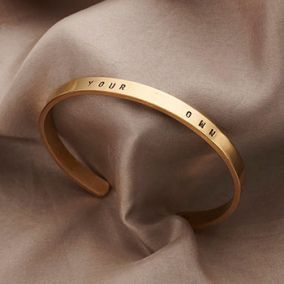 Personalised Slim Cuff