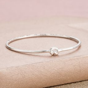 Personalised Tie The Knot Slim Bangle