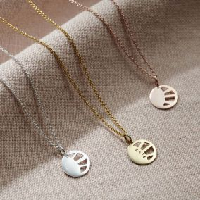 Personalised Small Sunburst Necklace