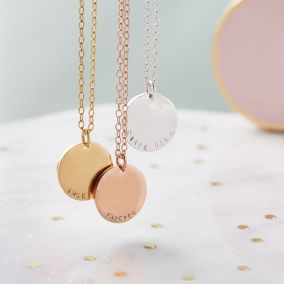 Personalised Heavy Coin Necklace