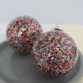 Sparkly Christmas Bauble Decoration