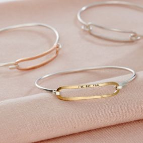 Personalised Large Link Bangle