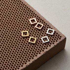 Fine Square Stud Earrings