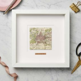 Personalised Single Square Map Picture