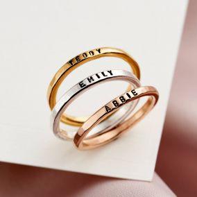 Personalised Stacker Ring Set