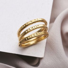 Personalised Stacker Ring Set