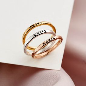 Personalised Stacker Ring