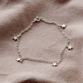 Personalised Star Station Anklet