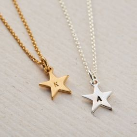 Personalised Bright Star Necklace