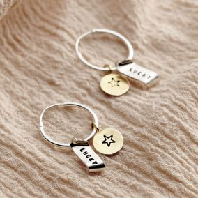 Lucky Charm Hoop Earrings