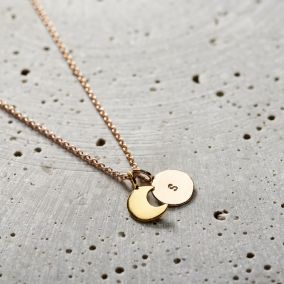Personalised Sun & Moon Necklace