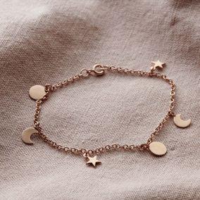 Personalised Sun, Moon & Star Station Bracelet