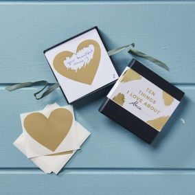 '10 things I love' Personalised Scratch Card Kit