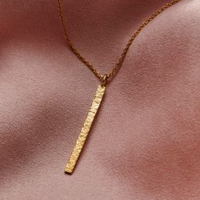 Personalised Textured Bar Necklace