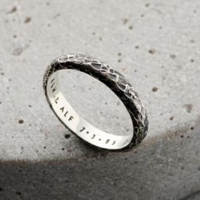 Personalised Men's Molten Script Ring