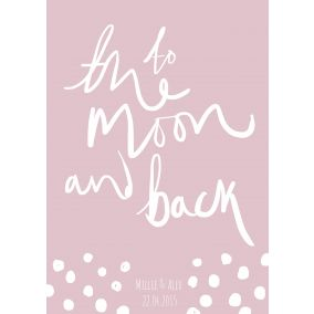 Personalised 'To The Moon And Back' Print