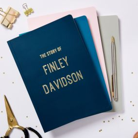 Personalised Gold Foil Name A5 Notebook