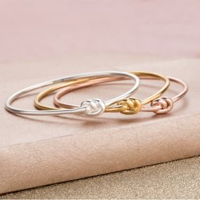 Personalised Tie The Knot Bangle
