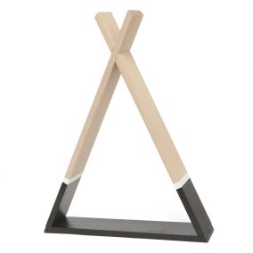 Wooden Teepee Style Shelf