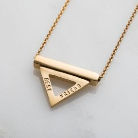Personalised Triangle Bar Stack Necklace