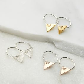 Triangle Mini Hoop Earrings