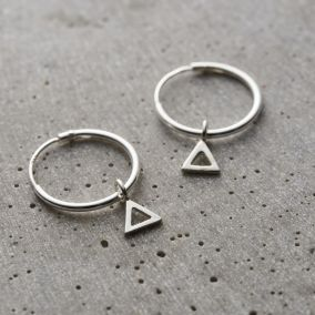 Geometric Hanging Earrings