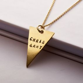 Personalised Triangle Charm Necklace