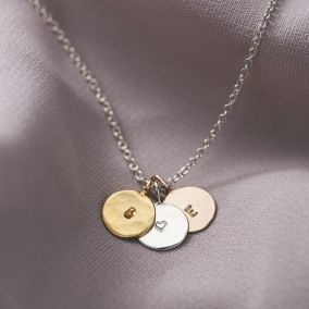 Personalised Mini Hammered Disc Necklace