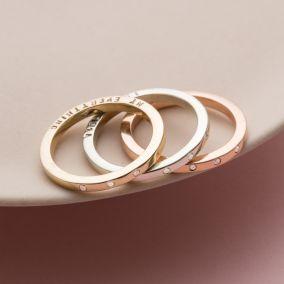 Personalised 9ct Gold Triple Diamond Eternity Ring