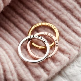 Personalised Verse Stacker Ring