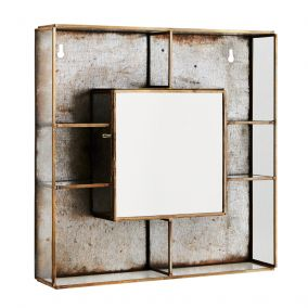 Wall Box Shelf With Mirror