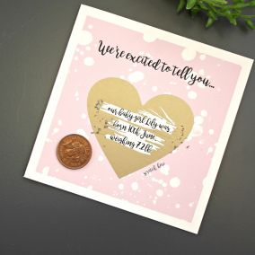 Personalised Wedding Heart Scratch Card