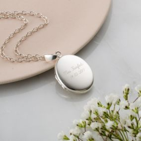 Personalised Wedding Locket Necklace