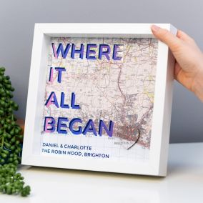 Personalised 'Where It All Began' Map Print